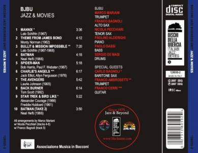 "BJBU - CD ""Jazz & Movies"""